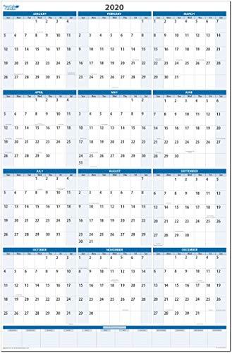 Amazon.com: Calendario de pared vertical, borrable en seco y ...