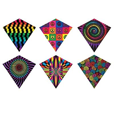 X Kites ColorMax Nylon Multi-Colored Patterns Kite-25 Inchees Wide by Brainstorm: Toys & Games