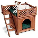 NEW! Dog Wooden Pet Home House Wood Furniture Cave House