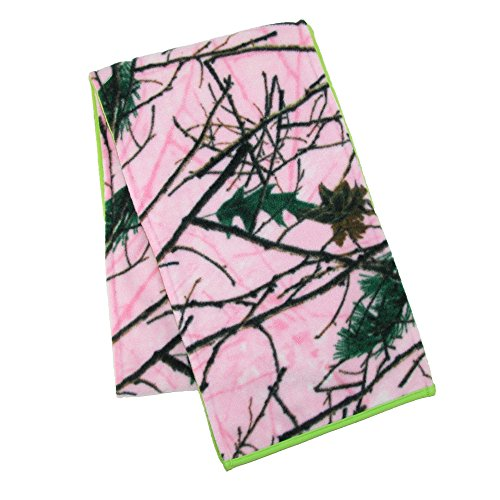 Sierra Womens Scarf - Grand Sierra Women's Camouflage with Contrast Color Reversible Scarf Lime Green Camo, O/S