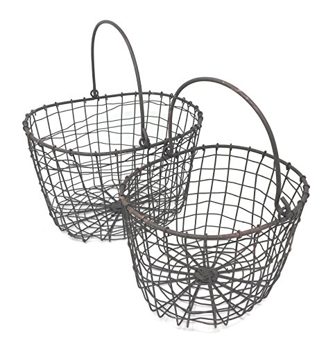 Wire Nesting Baskets with Handles (set of 2)