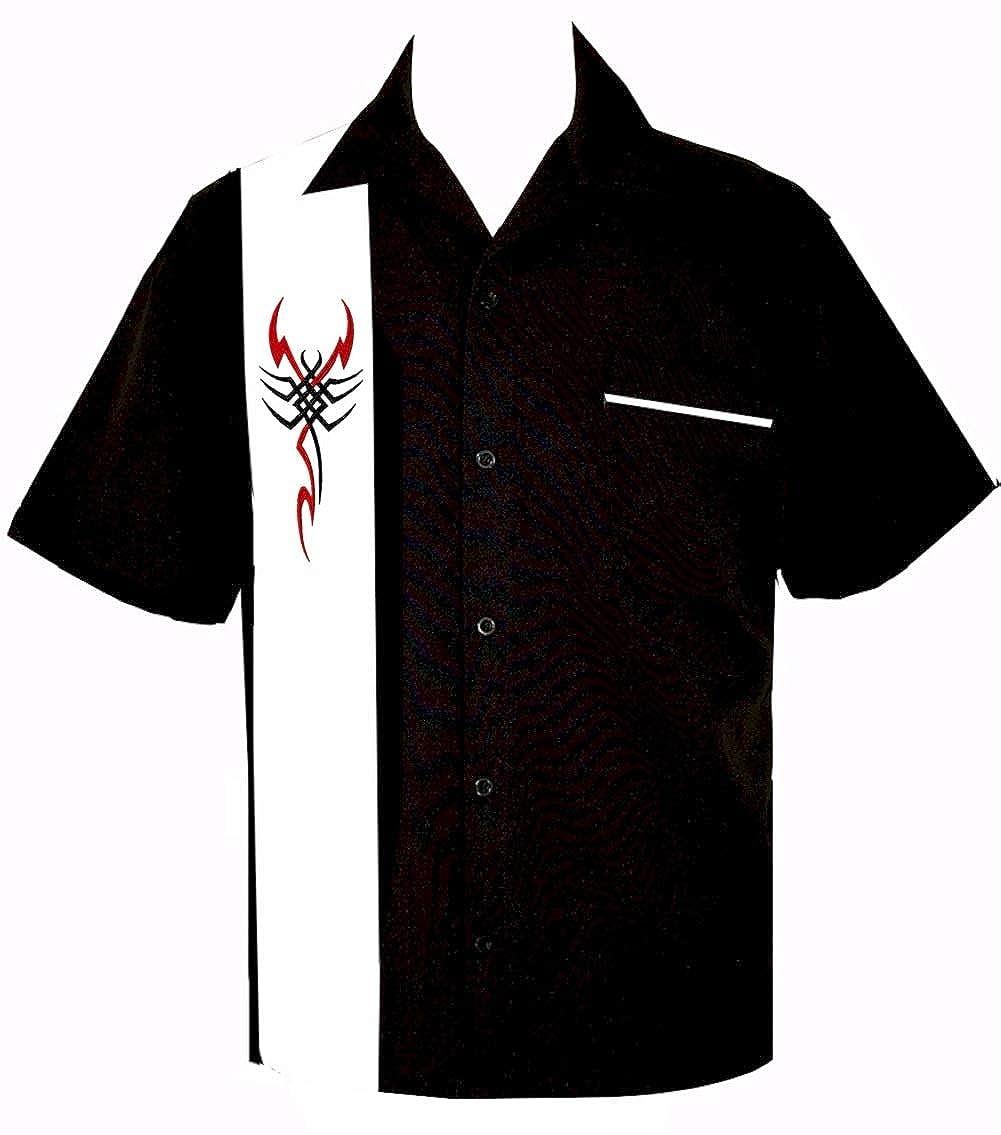 BeRetro Mens Tribal Tattoo Scorpion Shirt ~/RetroScorpian