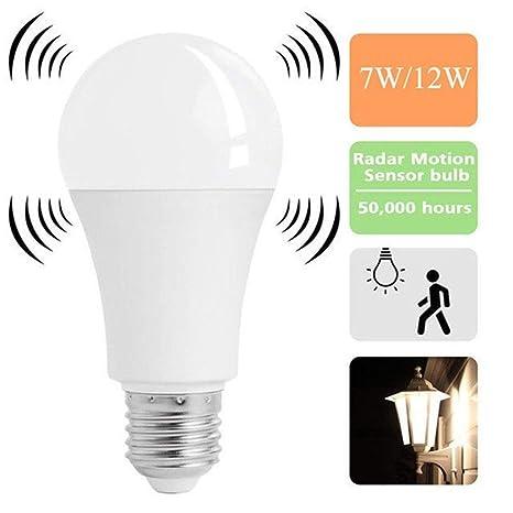 Glühbirne LED Birne Bewegungssensor Bewegungsmelder Licht Warmweiß 8W E27 top