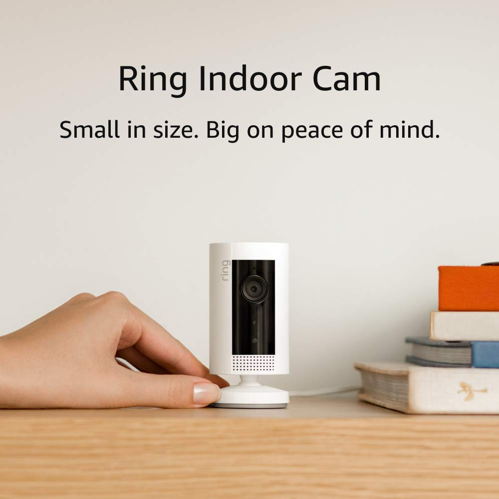 Introducing Ring Indoor Cam, Compact Plug-In HD security camera with two-way talk, White, Works with Alexa – 3-Pack