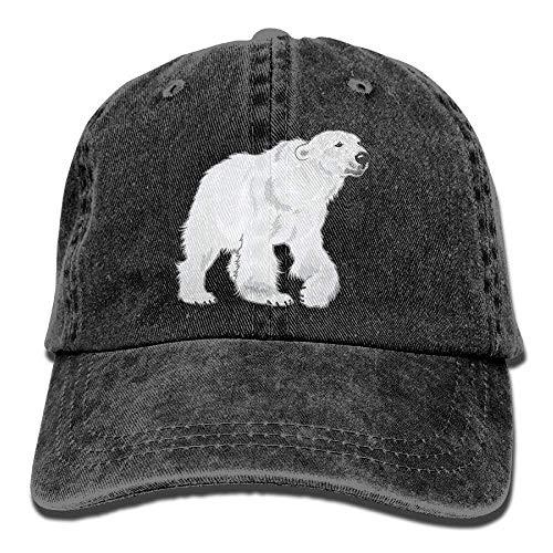 (R.Smith New Baseball Caps Polar Bear Denim Cotton Strap for Men Women Comfort Visor Dad Hats)