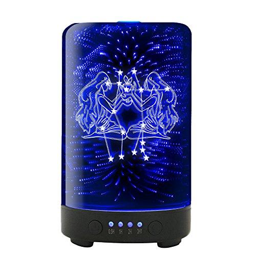 Sign Cool Zodiac Gemini - POLENNON Signs of The Zodiac Gemini Essential Oil Diffuser Electric 100ml Humidifier Cool Mist
