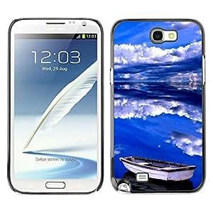 X-ray Impreso colorido protector duro espalda Funda piel de Shell para SAMSUNG Galaxy Note 2 II / N7100 - Sea Clouds Summer Storm Blue