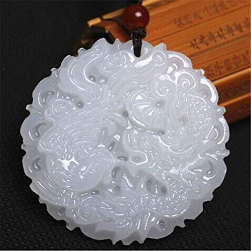 Phoenix Natural Jewelry Jade Pendant White Jade Dragon
