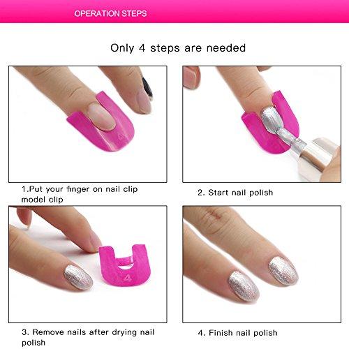 Stencil - Esmalte de uñas, reutilizable, de plástico suave, resistente a salpicaduras, para manicura y dedo, con 10 tamaños, 26 unidades (rosa): Amazon.es: ...