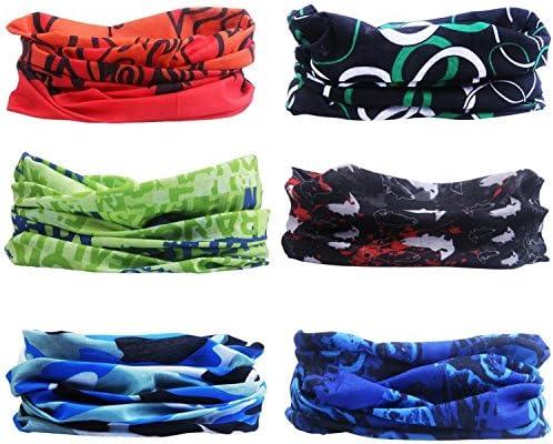 Bandana Scaldacollo,Copricapo Marocchino con Trifoglio A Bandiera Bandana con Protezione UV Ad Asciugatura Rapida per Tennis Unisex per Adulti,24X52Cm