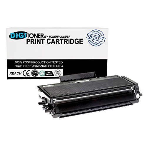 DigiToner8482; by TonerPlusUSA New Compatible Brother TN580 TN550 High Yield Laser Toner Cartridge for HL 5240 5250DN 5250DNT 5280DW, MFC 8460N 8660DN 8670DN 8860DN 8870DW (Black, 1 (Brother Hl 5340 Toner)