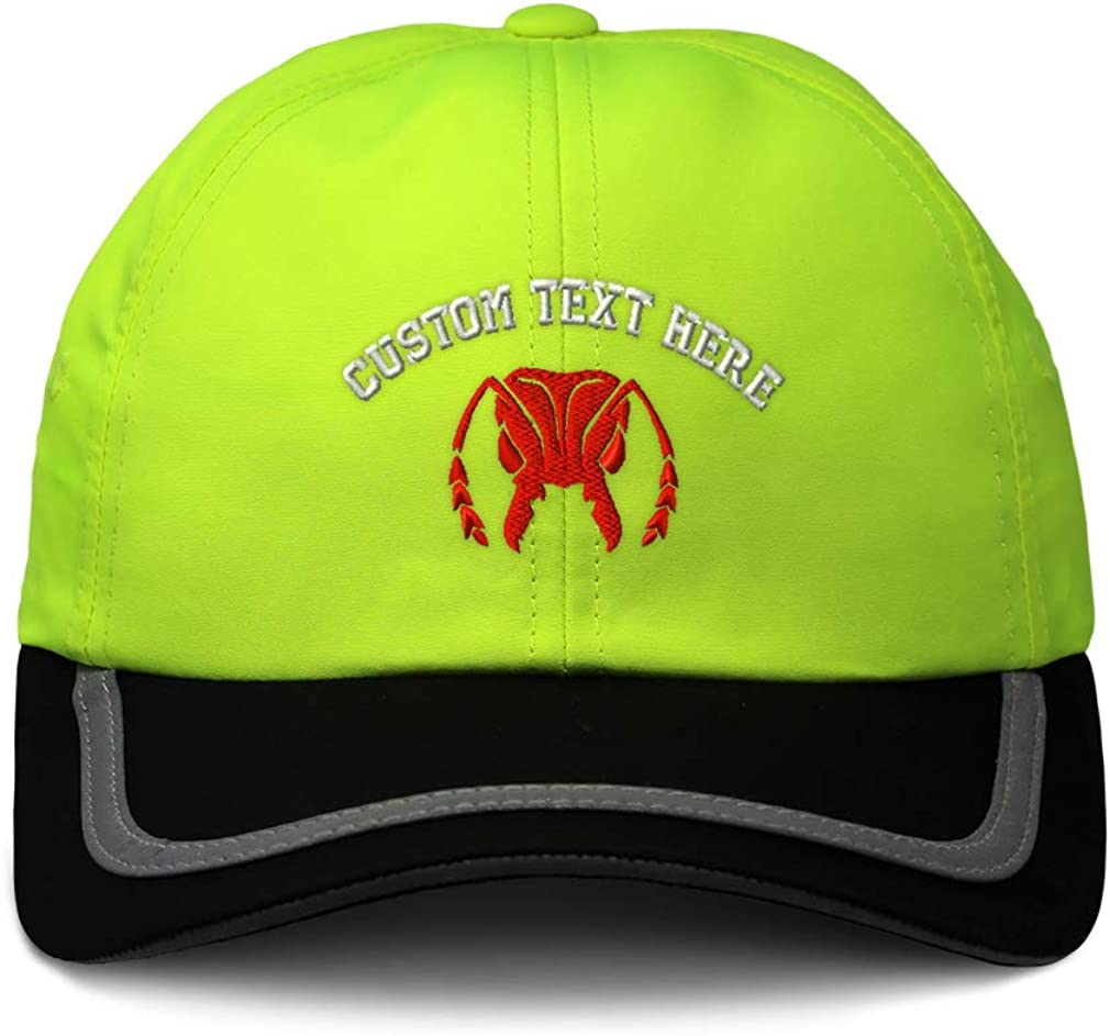 Custom Reflective Running Hat Red Grasshopper Face Embroidery Polyester One Size
