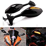 Motorcycle LED Turn Signal Light Side Rear View Mirrors for Racing Sport Bike Honda CB1000 CBR600 F4i Suzuki GSXR600 750 1000 Kawasaki