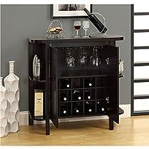 Latitude Run Oliver Bar Liquor Cabinet with Wine Storage