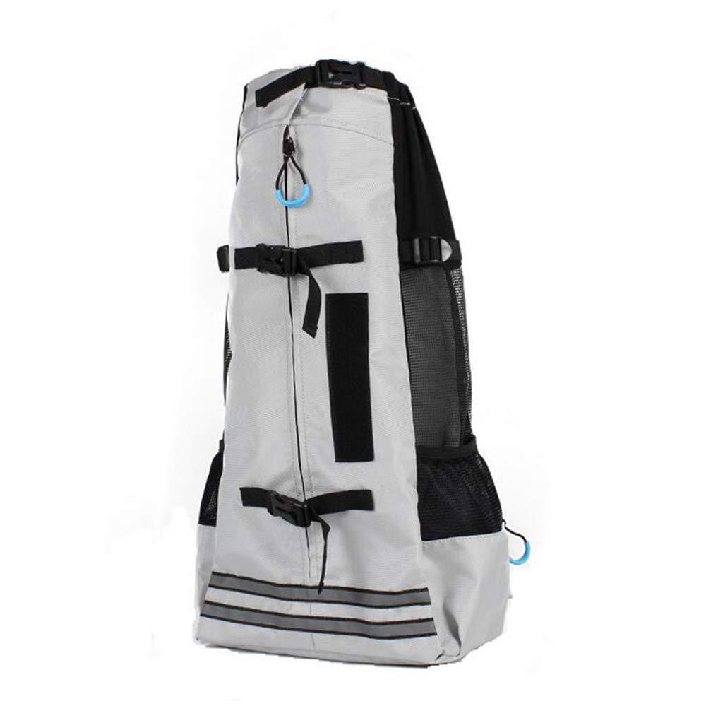 Grey M Grey M YAMEIJIA Pet shoulder carrier Outdoor travel breathable cat dog bag Comfort grid pet bag