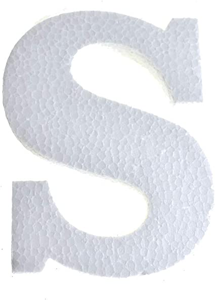 """12-Count 4-3//4-Inch Craft Styrofoam Letter Cut Out /""""S/"""""""