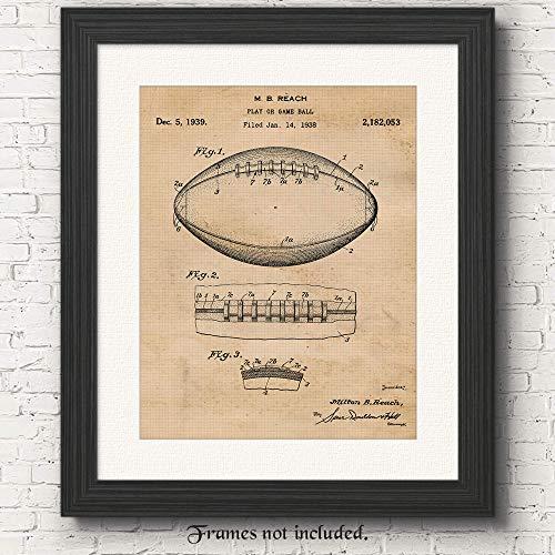 Original Football Patent Poster Print