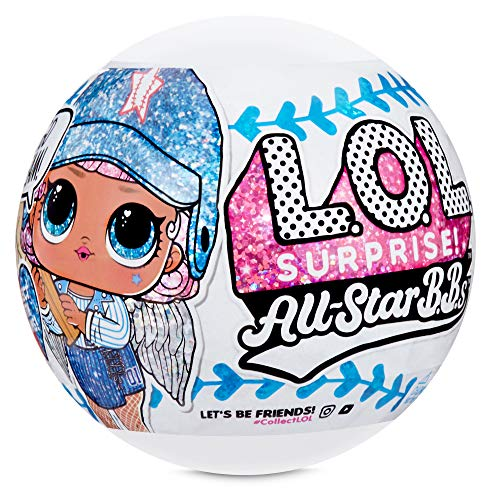 🥇 L.O.L. Surprise! All-Star B.B.s Sports Series 1 Baseball Sparkly Dolls with 8 Surprises