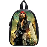 : Custom Pirates of the Caribbean Backpack Students School Bag Outdoor Backpack Black L