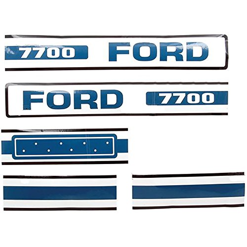 New Ford Tractor Hood Decal 7700 (75-81)
