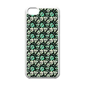iPhone 5c Cell Phone Case White Zig Zaggy Dinosaurs FY1378286