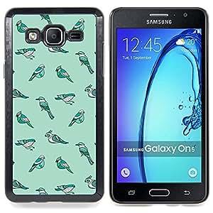 Species Evolution Teal Winter Caja protectora de pl??stico duro Dise?¡Àado King Case For Samsung Galaxy On5 SM-G550FY G550