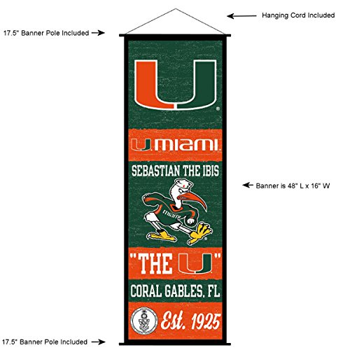 Miami Hurricanes Banner and Scroll Sign (Miami Hurricanes Sign)