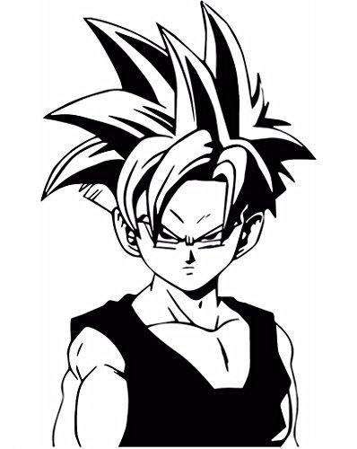 DBZ Dragon Ball Z Super Saiyan Gohan, White, 8 Inch, Die Cut