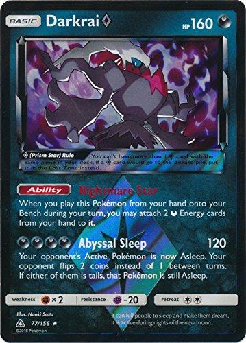 Darkrai Prism - 77/156 - Holo Rare - Sun & Moon: Ultra - Pokemon Darkrai Cards