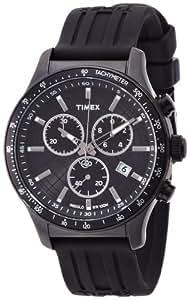 TIMEX Timex - Reloj analógico de cuarzo para hombre con correa de resina, color negro