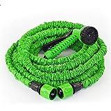 خرطوم/ مرش الماء السحري مع راس بخاخ طول 100 قدم لون اخضر يوصل في الصنبور مناسب للحديقة