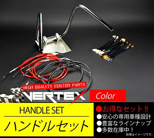 GPZ400F アップハンドル セット しぼりアップハンドル 35cm レッドワイヤー B075HDL628