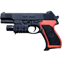 IndusBay® 1/1 Scaled Model Toy Police Pistol Gun Powerful Colt Revolver with Laser Target and Torch for Low Light Shooting