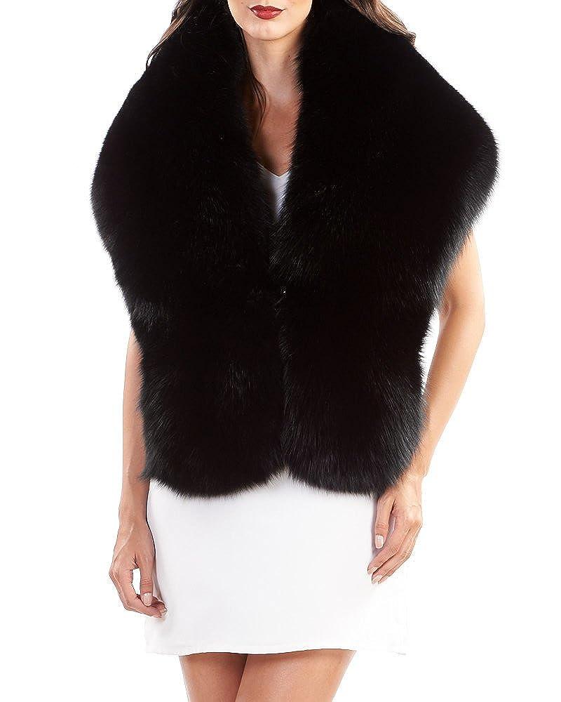 Black Frr Fox Fur Shawl