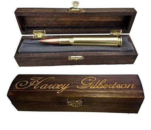 Anniversary Gifts For Men   50 Caliber Bullet Pen   Made In USA   Custom Engraved Personalized Box by Brass Honcho (Image #7)