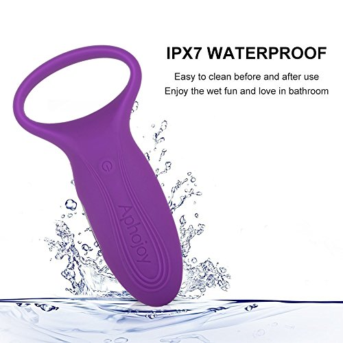 Vibrating Cock Ring - 7 Speed Silicone Waterproof Peins Ring USB Charging Vibrator(Purple)