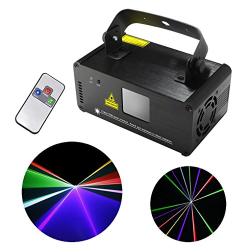 Mini IR Remote DMX 512 RGB Full Color Stage Lighting DJ Dance Party Show Projector Lights ADM-F400 by EJ