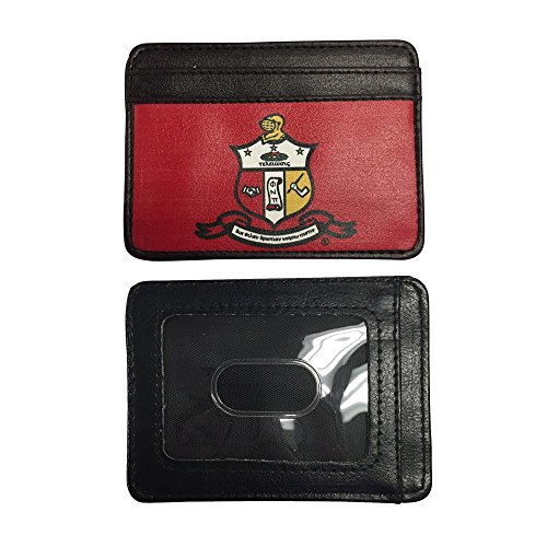 Kappa Alpha Psi Wallet for Men Top Grade Leather Full Color Fraternity Crest Nupe