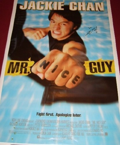 Mr. Nice Guy Jackie Chan Signed Autographed 27x40 Film Movie Theatre Poster Loa