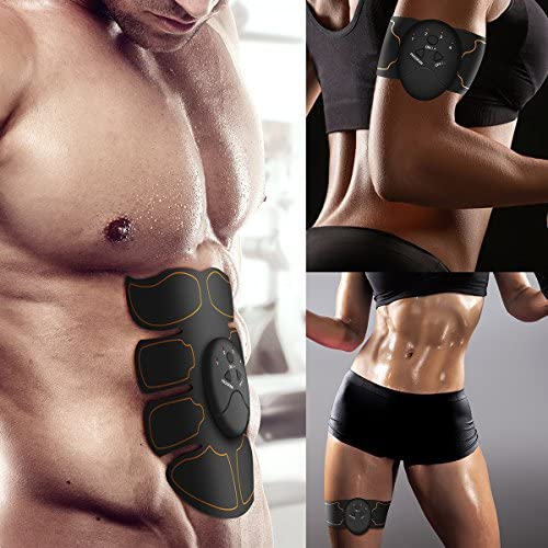Muscle Toner Abdominal Toning Belt EMS ABS Toner Body Muscle Trainer Wireless Portable Unisex Fitness Training Gear for Abdomen/Arm/Leg Training Home Office Exercise 7