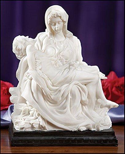 Mother Madonna with Jesus Christ Michelangelo's Pieta 8 Inch White Resin Statue Figurine