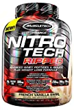 MuscleTech Nitro Tech Ripped Whey Protein Isolate Weight Loss Formula, French Vanilla Swirl, 4 Pounds