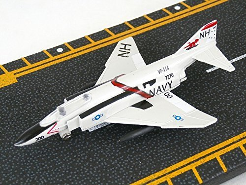 Hot Wings F-4 Phantom with Connectible Runway Die Cast Plane Model Airplane, (Hot Wings Diecast Toy Airplane)