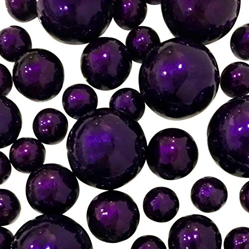 - Plum Pearls - Jumbo/Assorted Sizes Vase Decorations - to Float The Pearls Order The Floating Packs from The Options Below