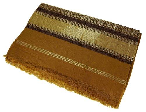 Accessoires châle indien à la main en laine féminin brodé 213 X 91 cm
