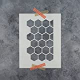 Honeycomb Stencil Template - Reusable Stencil with Multiple Sizes Available