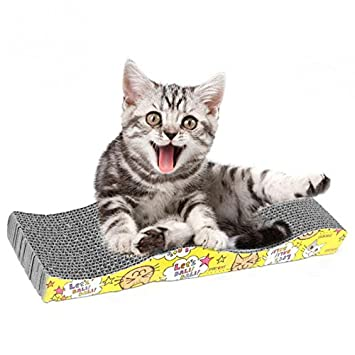 Amazon.com: Furniture & Scratchers - S Shaped Cat Kitten Corrugated Scratch Board Pad Scratcher Bed Mat Claws Care Juguetes Para Gatos - Bed Bed Bed Pet ...