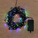 BINGONE 8 Modes Built in Timer Waterproof String Lights Battery-powered for Holiday Party Christmas Halloween- 33ft/72led
