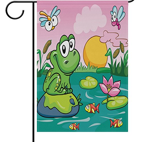ALAZA Outdoor Decorative Flags - Animals Spring Summer Garde