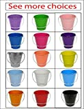 ITALIA 6-Pack Metal Bucket color White Size 7.5 x